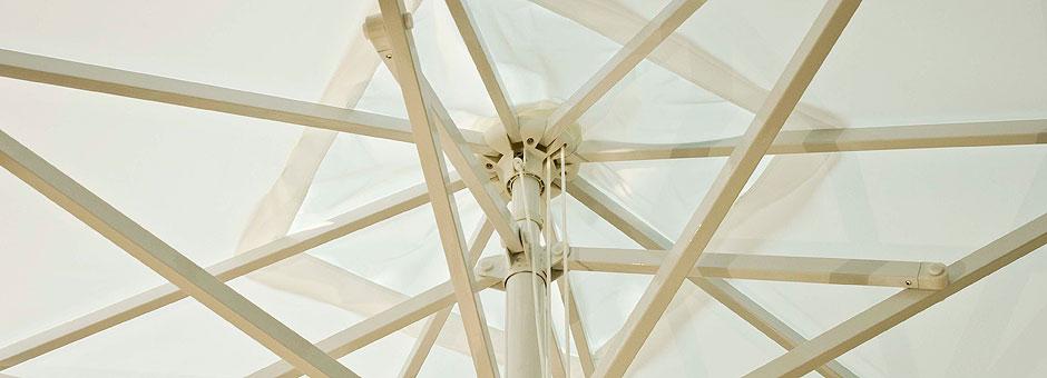 Werbeschirm Venus Light -Teleskopschirm mit Seilzug