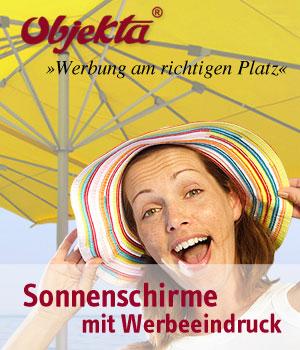 Sonnenschirme mit Werbeeindruck
